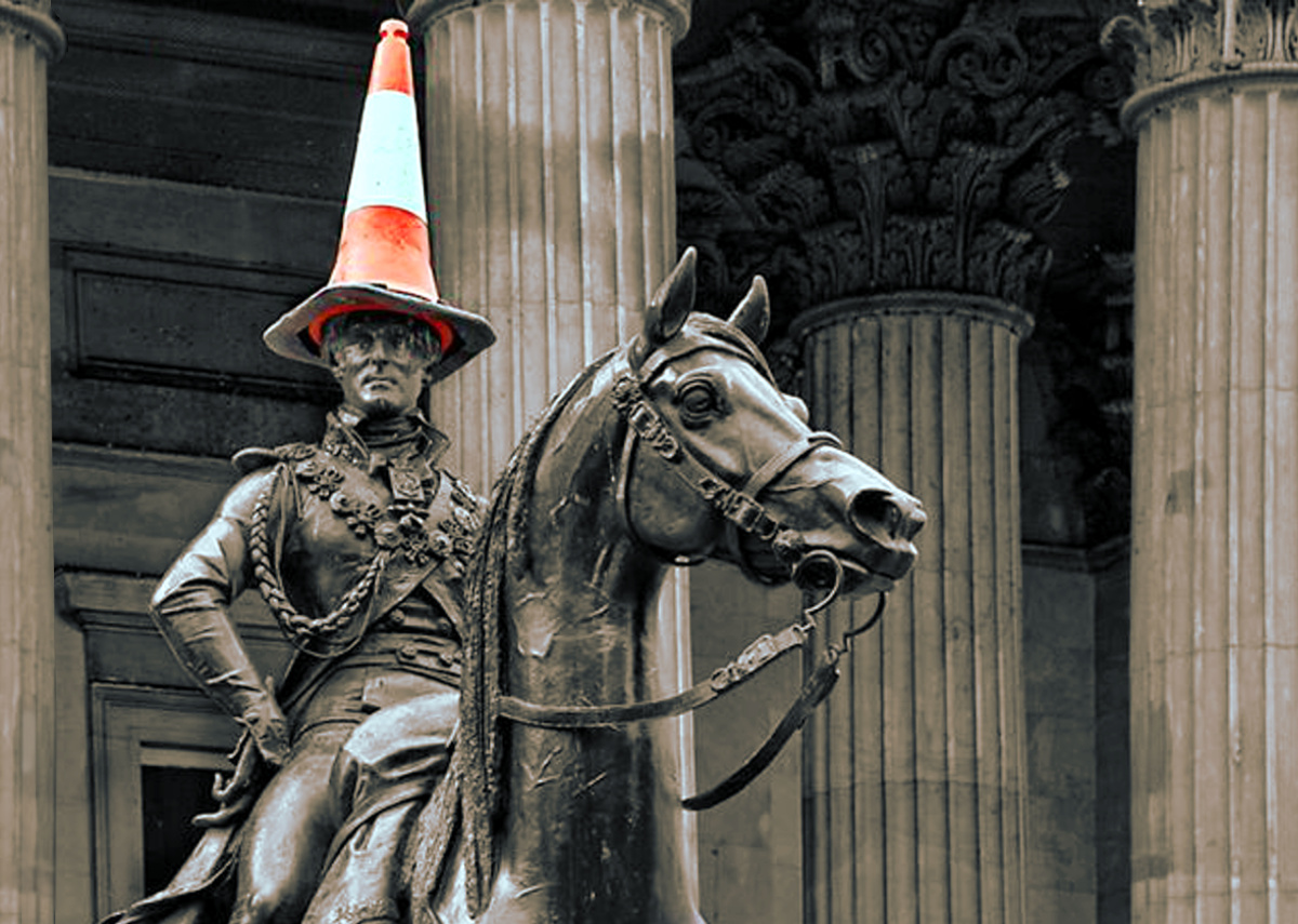 Duke of Wellington (Arthur Wellesley) statue in Glasgow